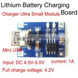 Cheap small charger module input DC 4.5V-5.5V output DC4.2V Mini USB 1A Lithium Battery Charging Board