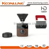 Famous! Car DVR with Dual Lens front wire 3 meter back wire 6 meter wifi New remote control min camera