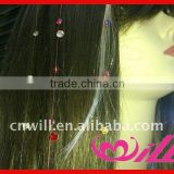 beautiful girl's hair crystals string crystal hair extension strand