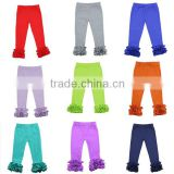 2016 new arrival baby leggings ruffle pants for toddler girl kids children pants girls ruffle pants icing ruffle capri pants