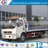 dongfeng Multipurpose Road Wrecker Truck 125hp rotator tow truck 4x2 wrecker tow trucks turbocharger tow truck for sale
