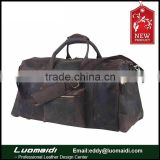New china products for sale retro crazy horse leather travel duffel bag for men,large capacity travel handbag
