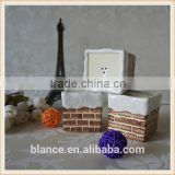 ceramic brick wall high quality salt and pepper shakers