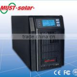 must solar high frequency independent tower UPS,0.8power factor 1k/2k/3k with battery and without battery UPS