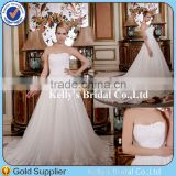 Fashion Style Sequins Beaded Corset Bodice Appliqued Lace Casual White Wedding Dress