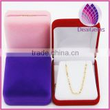 High quality velvet jewelry packaging boxes pendant packaging box pendant box gift