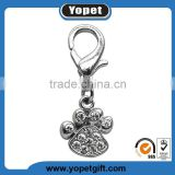Silver Tone Rhinestone Dog's Paw, Bone, Heart ,Crown Custom Logo Charms Pendants,Dog Charms Wholesale