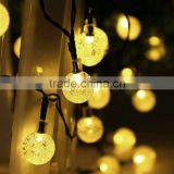 Christmas Holiday Name Solar Power 4.8M 20 LED Ball String Lights