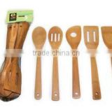 BBQ Kitchenware Bamboo Wooden Grapefruit Cutlery Spoon and Fork Prong