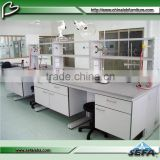 Good Quality Lab Commercial Customized Steel Wood Workbench with Drawers