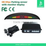 bibi alert parking sensor,4 Black Parking Sensors LED Display Car Reverse Backup Radar Kit with Backlight