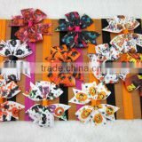 New 3inch Grosgrain Ribbon Halloween Baby Hair Bows with Soft Elastic Headband Baby Headbands IN STOCK
