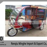 popular in bangladesh red color borac brand rechargeable battery electric tricycle rickshaw direct from china factory