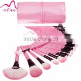 32PCS Pink Makeup Brushes Kit Professional Cosmetic Make Up Tool Set with Pouch Bag Case