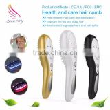 100% Brand New laser hair growth brush laser comb for hair loss treatment
