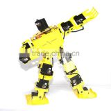 17 Degrees of Freedom Bipedal Humanoid Robot With Full Steering Bracket Accessories( Yellow) MK-A0001-3
