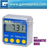 Digital Angle Gauge Meter Protractor 360 degree Magnets Base Level Slope Bevel Box Inclinometer