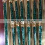 Nouveau Luxury Building Material, Malachite and Metal Balustrade Handrail Post, Luxury Designed Railing Post