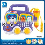 2017 Hot selling early education baby jukebox microphone model custom toy bus