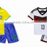 OEM Sublimated quick dry club team kids football single jersey sets 100% polyester soccer team jersey uniforms