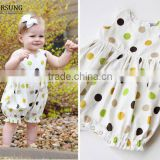 2017 New Design baby girl clothes cute polka dots sleeveless Cotton Summer newborn Baby Romper