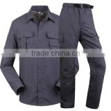 Juqian GZ uniform manufacturer Quick drying breathable gray wear rough Industrial engineering work clothes uniform suits