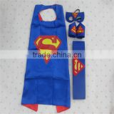 DIY Superman Cape Mask Fancy Dress Kids Childrens Halloween Super Hero