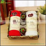 Cotton Microfiber wedding cake face towel with luxury pack souvenirs box birthday cute cake style towel
