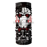 Sports Motorcycle Neck Gaiter Tubes Skull Pattern Face Mask Bandana