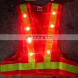 security vest red mesh high visibility safety vest led light reflective vest