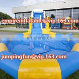 Charming inflatable water slide , meidum size inflatable slide with pool for kids ID-SLM070