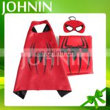 Wholesale hot selling promotion satin fabric halloween children kids superhero capes