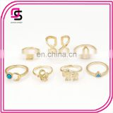 2016New fashion gold ring settings without stone