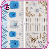 Colorful skin tattoo sticker with different pattern in a sheet