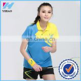 Wholesale women's tennis badminton wear tennis wear jerseys volleyball clothing Golf clothing Yihao custom