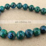 Natural azurite 8mm round beads wholesale round gemstone beads chrysocolla 8mm round beads