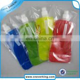 plastic kids foldable water bottle