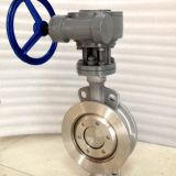DN300 12inch PN16 No leakge wafer style triple offset butterfly valve metal seated high performance no leakage
