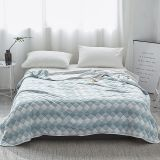 Luxury cotton Summer Quilt twin full queen king Blankets fashion plaid Bed Cover Children Adults duvet white blue soft Comforter