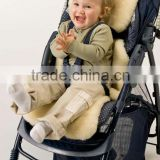 Sheepskin baby buggy liner
