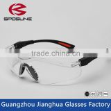 Inexpensive reclus safety glasses black flexible temples clear lens onion cutting working shooting running