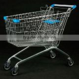 metal cart shopping double level plastic basket go cart