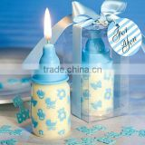 Baby favors Blue Baby Bottle Candle Favor with Baby-Themed Design For Baby Shower and Baby Gifts