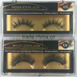 Private Label Faux Mink false lashes, Premium Black, 0.05mm chickness to 0.25mm thickness