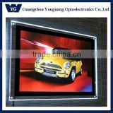 window estate clear acrylic crystal led sign/Illuminated frameless thin panel advertising crystal led signs