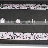 Stylish Rhinestone Bling Bling Stainless Steel Metal American US Auto Car License Plate Frame Rhinestone