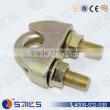 china din1142 electro-galvanized mallealbe wire rope clamp with golden surface