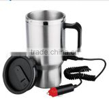 Stainless Steel Auto Heated Travel Coffee Tea Mug Cup With Car Charger                                                                         Quality Choice