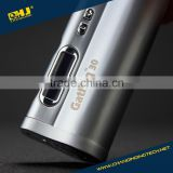 Hot selling VV VW 30W box mod Changing Gatling 30 mod with OLED screen silver white brass for choosen