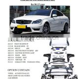 mercedes benz1 body kit for 2007 up W204 C180 C260 C200 Car , upgrade to 2012 C63 AMG style by maker